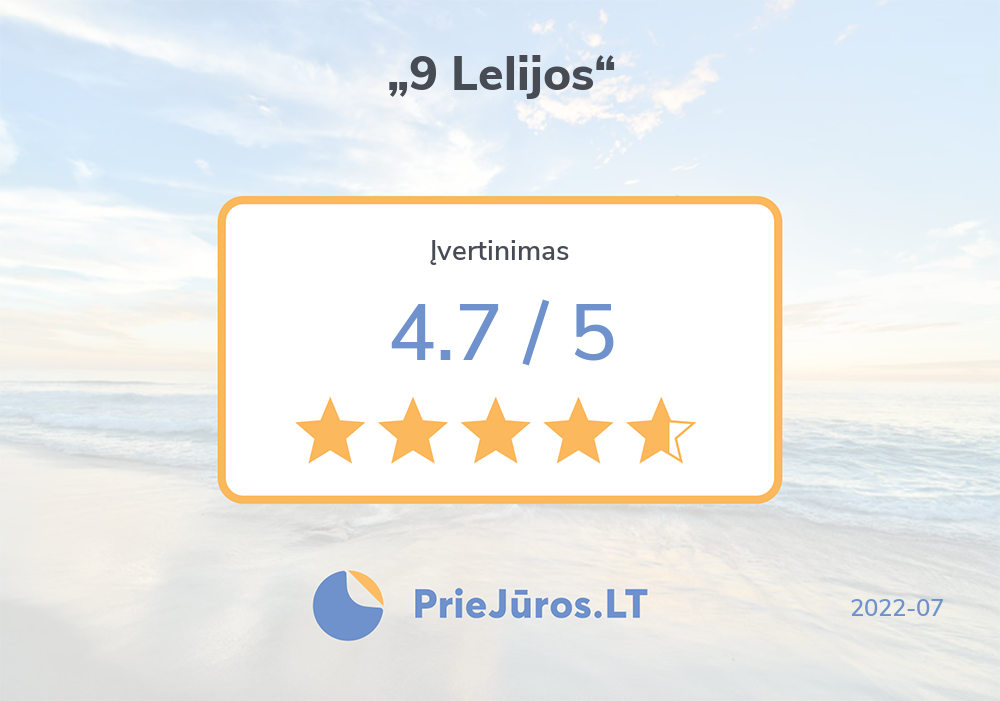 "Holiday makers' reviews – ""9 Lelijos"""