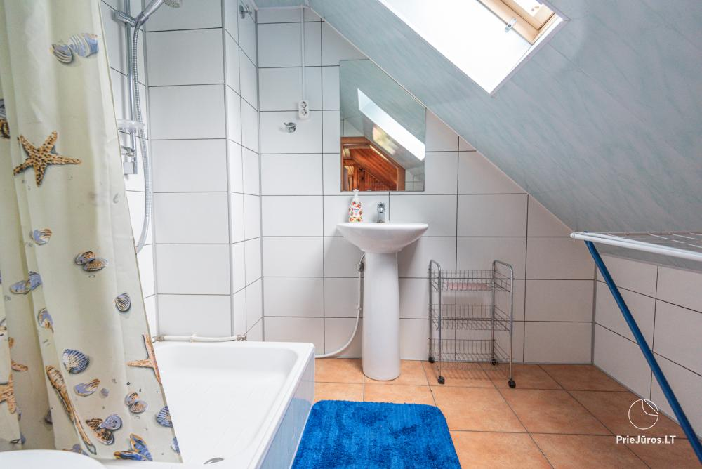 1 and 2 room apartments in Juodkrante (Curonian spit): all amenities, free parking, Wi-Fi, arbor - 3