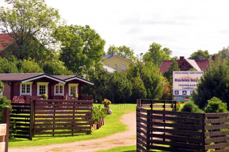 Campsite and holiday cottages  in Klaipeda district at the Baltic sea KARKLES KOPOS