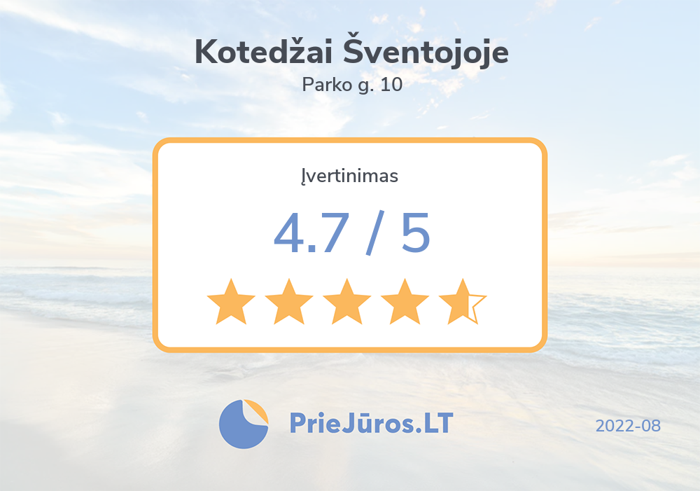 Holiday makers' reviews – Kotedžai Šventojoje, Parko g. 10
