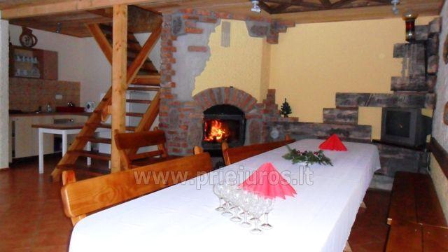 Banquet hall, bathhouse and warm water tub in homestead Kursiu takas