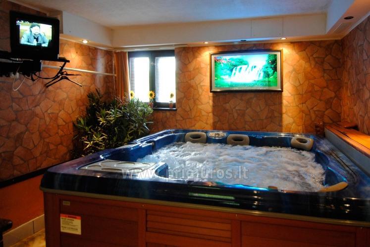 Sauna su baseinu, masažinė vonia šeimyniniuose apartamentuose Po kaštonu***