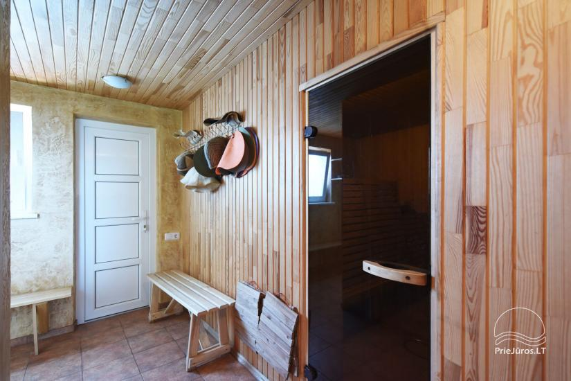 Bathhouse and banquet hall for rent in Sventoji 200 m to the sea - 5