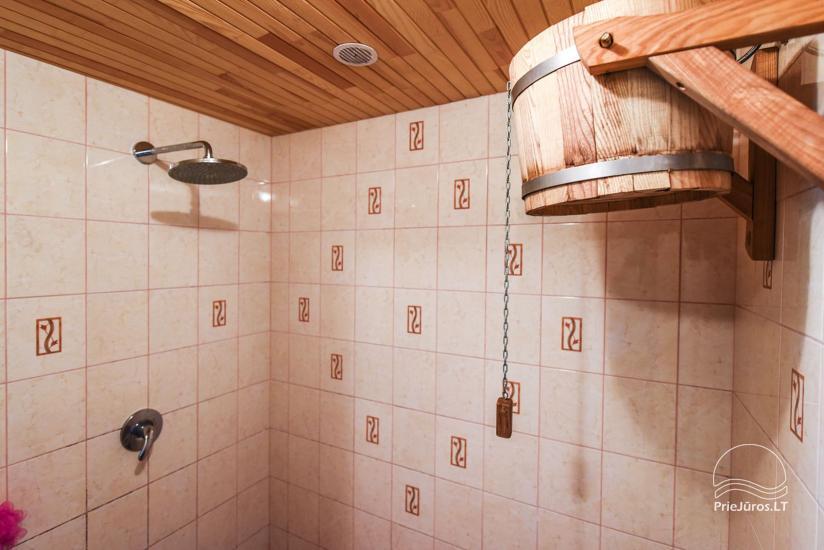 Badehaus und Bankettsaal zur Miete in Sventoji 200 m zum Meer - 8