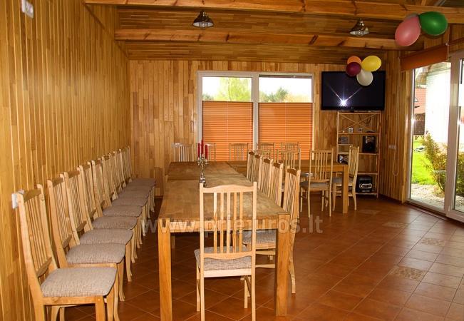 Badehaus und Bankettsaal zur Miete in Sventoji 200 m zum Meer - 10