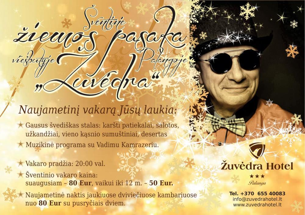 """Naujųjų metų sutikimas viešbutyje """"Palangos žuvėdra"""", ant Baltijos jūros kranto! - 1"""