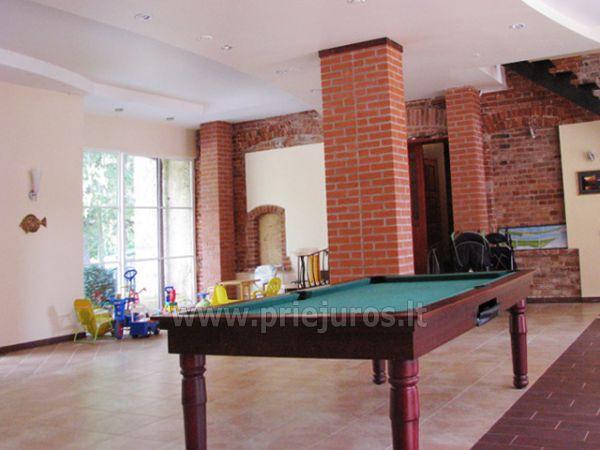 Biliardas, treniruoklių salė, dviračiai Juodkrantėje viloje Bachmann-Kuršių kiemas - 1