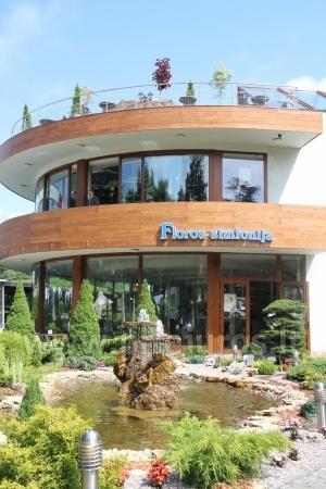 """Kavinės """"Floros simfonija"""" originali aplinka - autorinis mūsų įmonės darbas"""