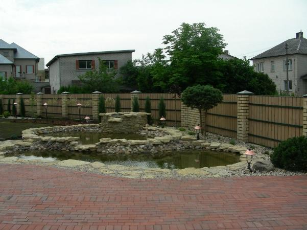 Dekoratyviniai baseinai, kriokliai