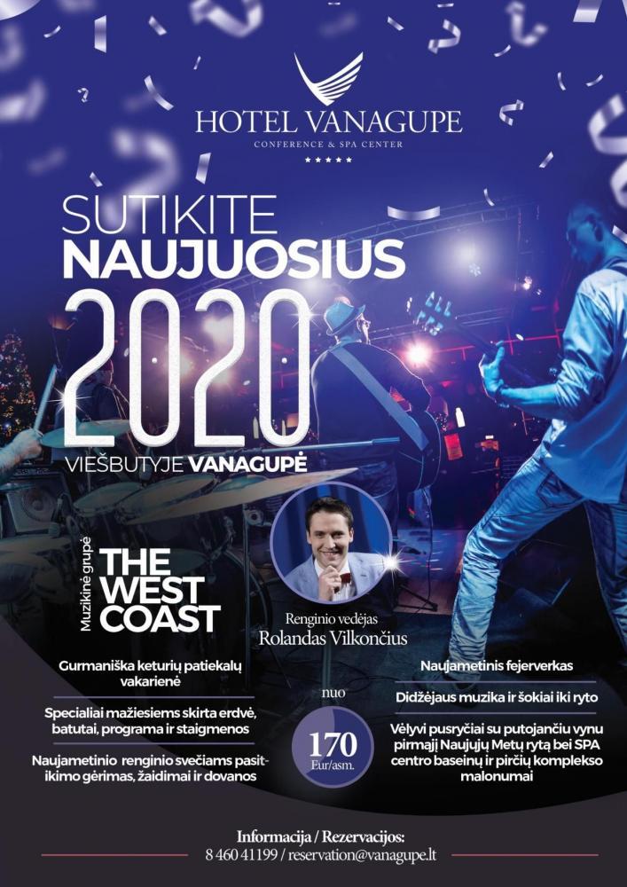 Kviečiame sutikti Naujuosius 2020 metus viešbutyje VANAGUPĖ! - 1