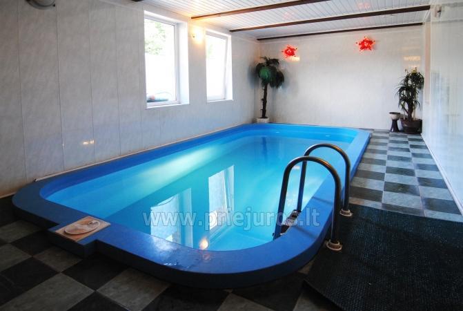 Pirtis, baseinas ir pokylių salė viešbutyje Vėžaičiuose - 1