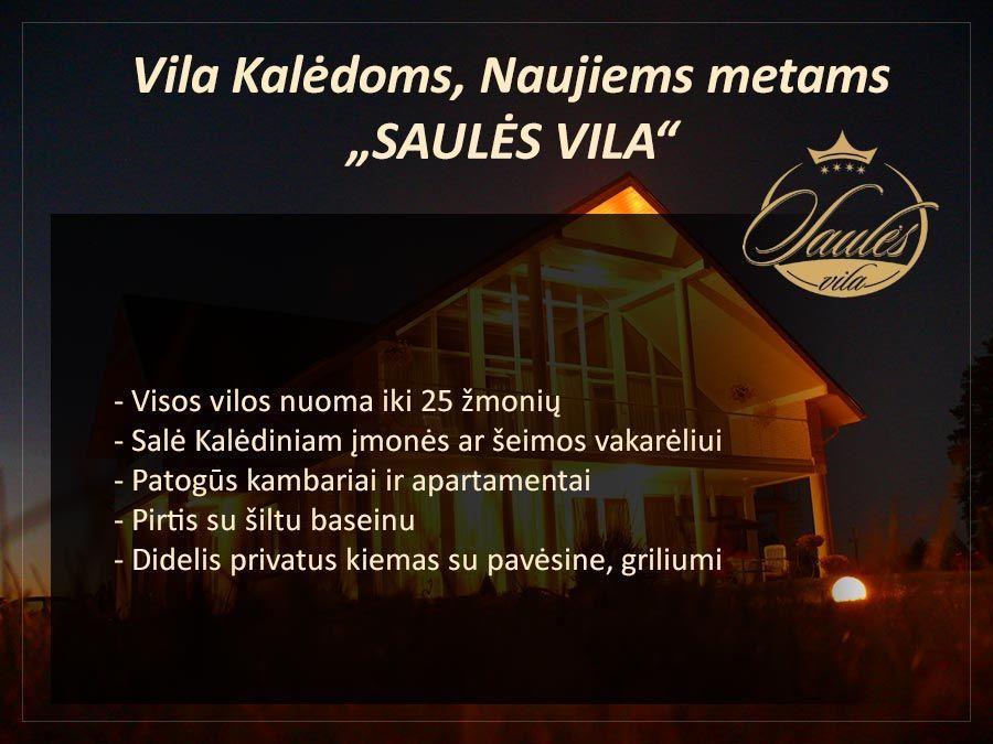 SAULĖS VILA Kalėdiniams vakarėliams, Naujiems metams Palangoje: salė, nakvynė, pirtis su šiltu baseinu - 1