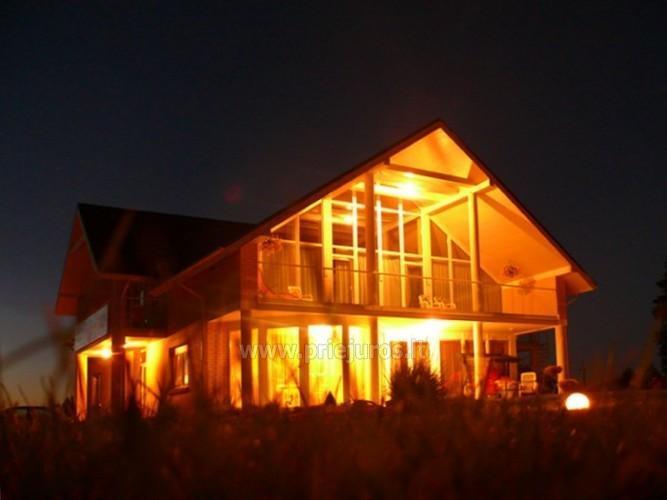 SAULĖS VILA Kalėdiniams vakarėliams, Naujiems metams Palangoje: salė, nakvynė, pirtis su šiltu baseinu