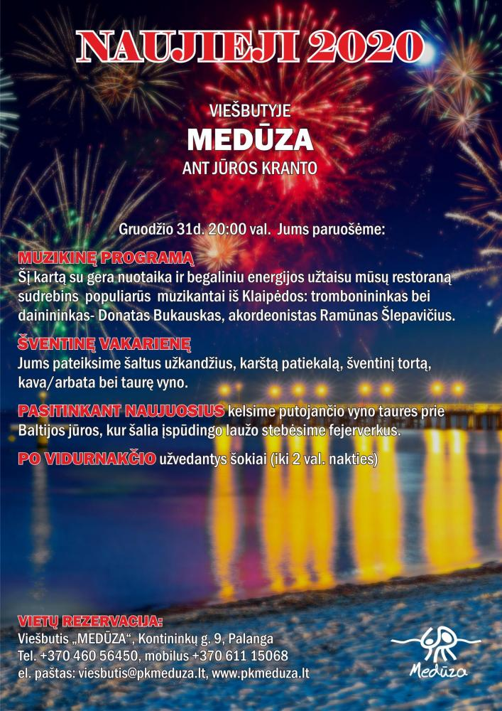 """Naujų metų vakaras restorane """"Medūza"""", ant jūros kranto! - 1"""