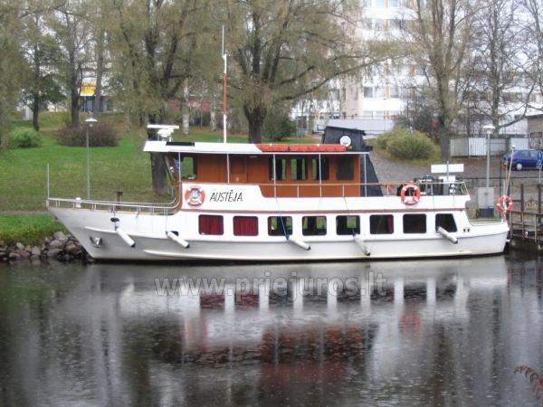 """Kelionės laivais ir laivų nuoma """"Austėja"""" (70 vietų) ir """"Aistis"""" (20 vietų)"""