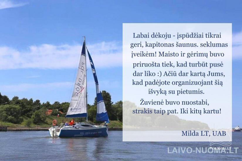 Laivo nuoma – šventė laive Kuršių mariose, Klaipėdoje, Nidoje, Mingėje - 12