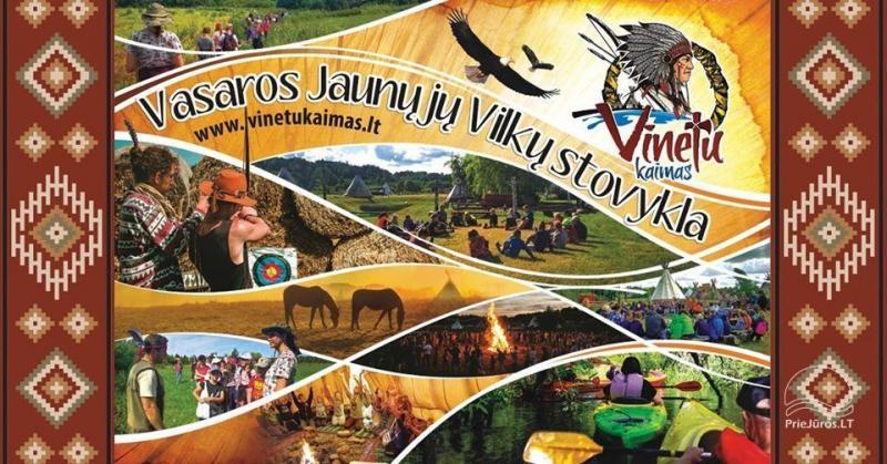 Vaikų vasaros stovykla sodyboje Vinetu kaimas