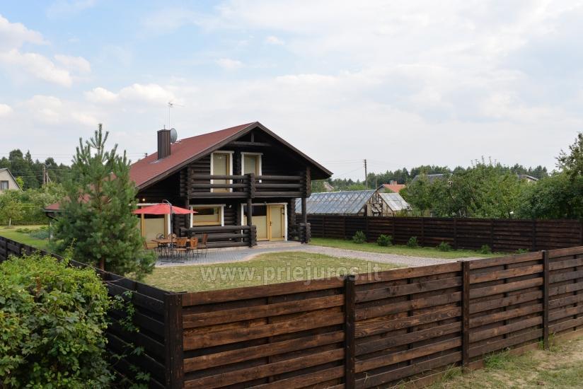 100 kv.m. rąstinis namas pardavimui Šventojoje. Pilnai įrengtas su uždaru kiemu - 2