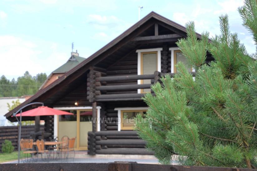 100 kv.m. rąstinis namas pardavimui Šventojoje. Pilnai įrengtas su uždaru kiemu - 3