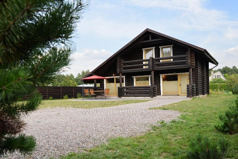 100 kv.m. rąstinis namas pardavimui Šventojoje. Pilnai įrengtas su uždaru kiemu - 4