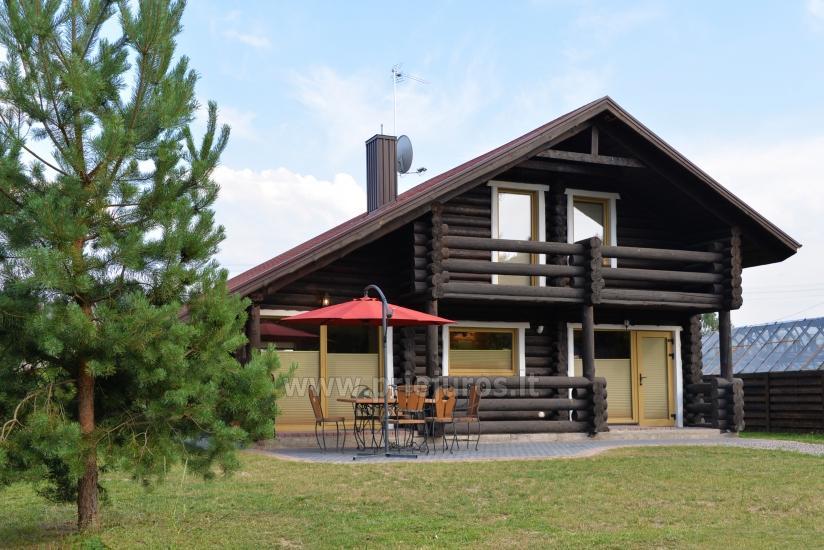 100 kv.m. rąstinis namas pardavimui Šventojoje. Pilnai įrengtas su uždaru kiemu - 1