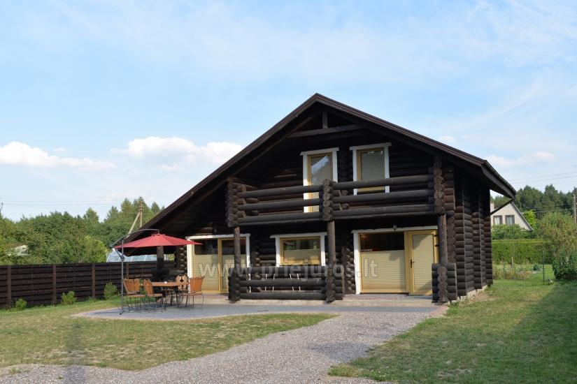 100 kv.m. rąstinis namas pardavimui Šventojoje. Pilnai įrengtas su uždaru kiemu - 5