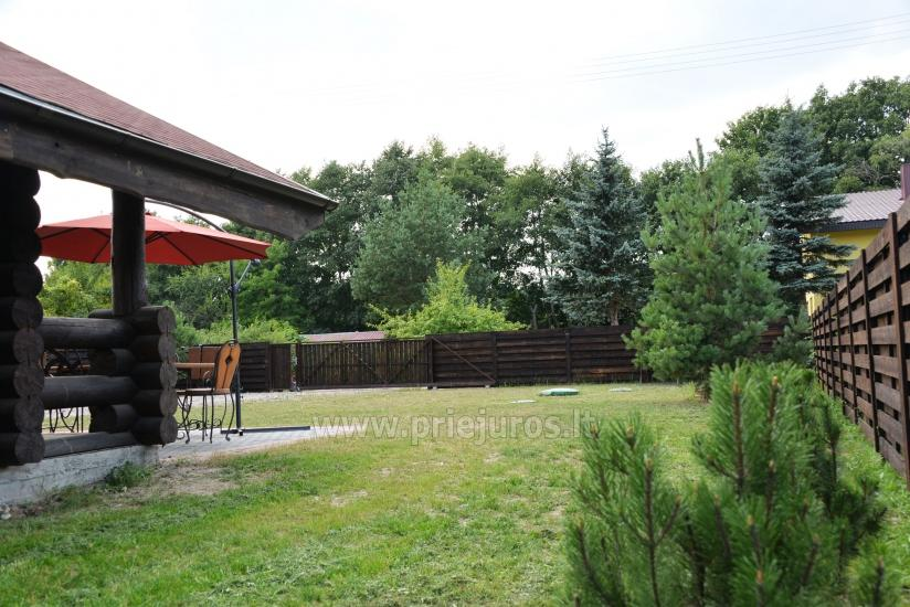 100 kv.m. rąstinis namas pardavimui Šventojoje. Pilnai įrengtas su uždaru kiemu - 7