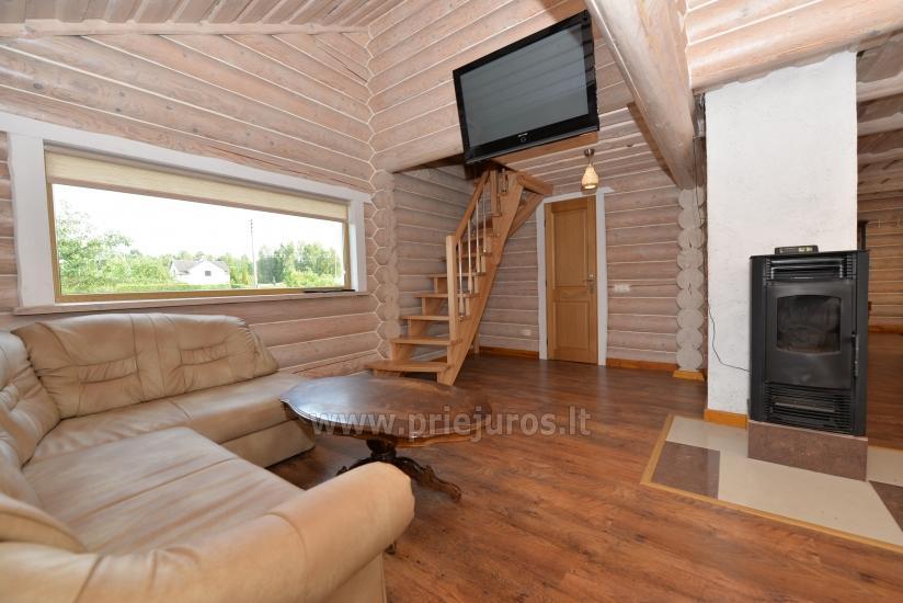 100 kv.m. rąstinis namas pardavimui Šventojoje. Pilnai įrengtas su uždaru kiemu - 9