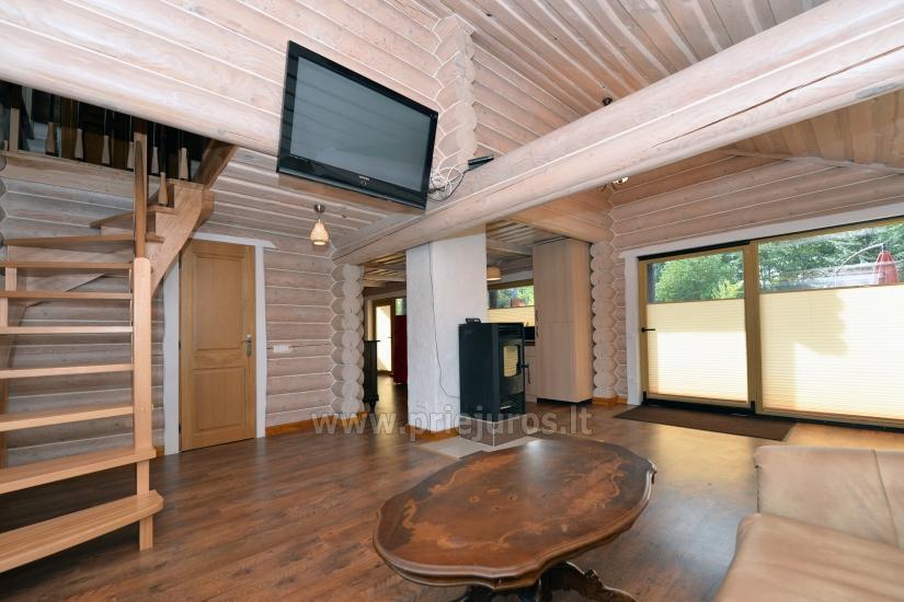 100 kv.m. rąstinis namas pardavimui Šventojoje. Pilnai įrengtas su uždaru kiemu - 10