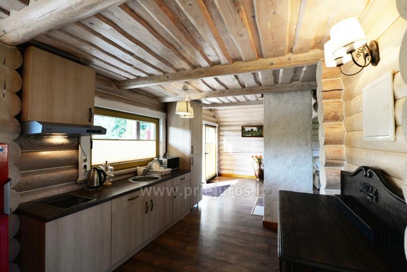 100 kv.m. rąstinis namas pardavimui Šventojoje. Pilnai įrengtas su uždaru kiemu - 14