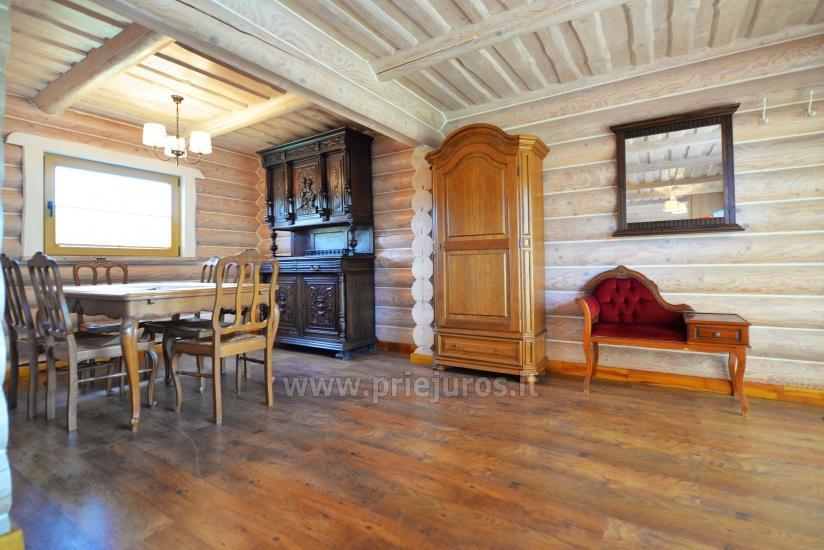 100 kv.m. rąstinis namas pardavimui Šventojoje. Pilnai įrengtas su uždaru kiemu - 15