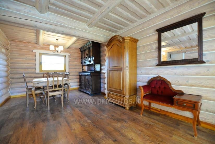 100 kv.m. rąstinis namas pardavimui Šventojoje. Pilnai įrengtas su uždaru kiemu - 16