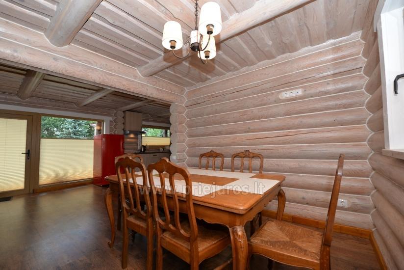 100 kv.m. rąstinis namas pardavimui Šventojoje. Pilnai įrengtas su uždaru kiemu - 17