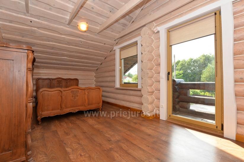 100 kv.m. rąstinis namas pardavimui Šventojoje. Pilnai įrengtas su uždaru kiemu - 22