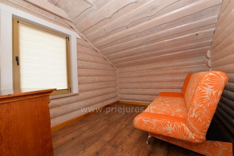 100 kv.m. rąstinis namas pardavimui Šventojoje. Pilnai įrengtas su uždaru kiemu - 26