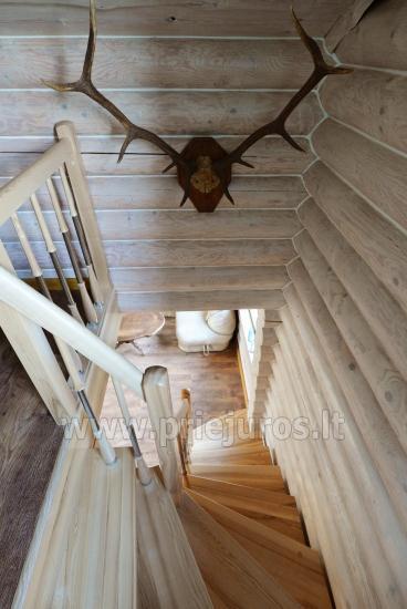 100 kv.m. rąstinis namas pardavimui Šventojoje. Pilnai įrengtas su uždaru kiemu - 27