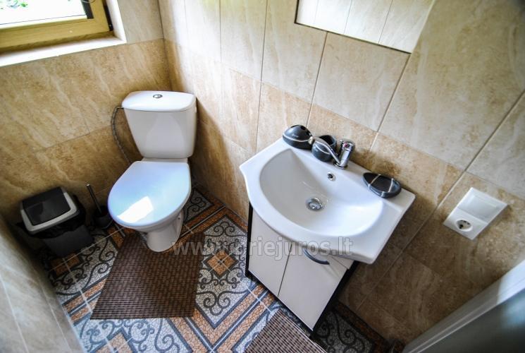 100 kv.m. rąstinis namas pardavimui Šventojoje. Pilnai įrengtas su uždaru kiemu - 28