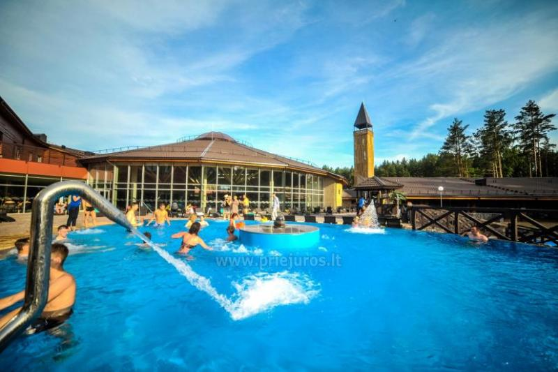 Swimming pools and saunas in recreation and health complex Atostogu parkas