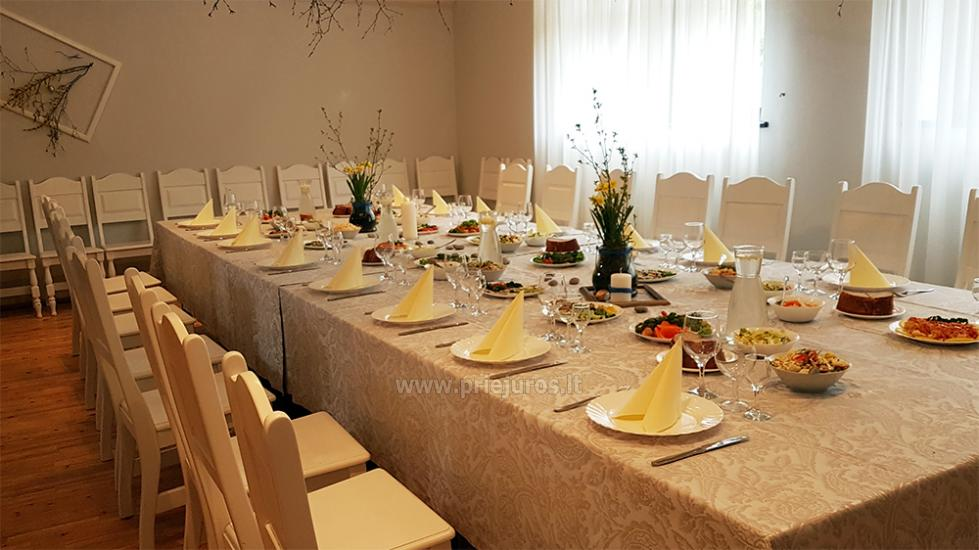 """20-60 vietų salės vestuvėms, seminarams sodyboje """"Laukdvaris"""" - 18"""