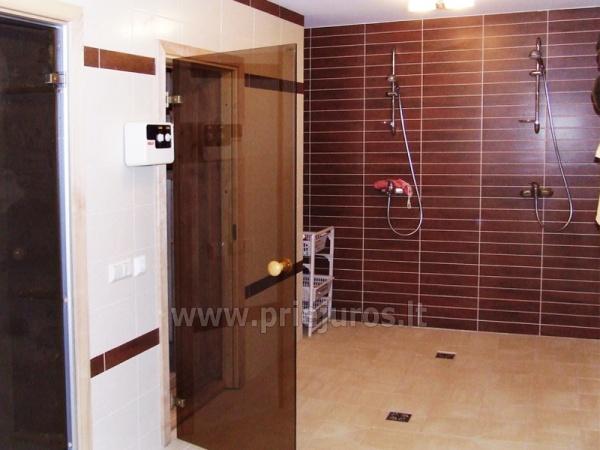 Pirtis, masažinė vonia, biliardas svečių namuose Palangoje Po Jūros banga - 5