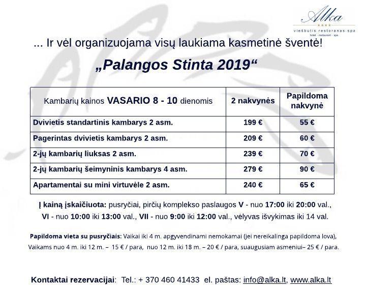 "PALANGOS STINTA 2019 viešbutyje ""Alka""! - 1"