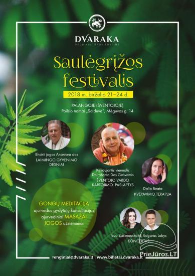 JONINĖS Saulėgrįžos festivalis, 2018 m. birželio 21 d. 15:00 val. - 3