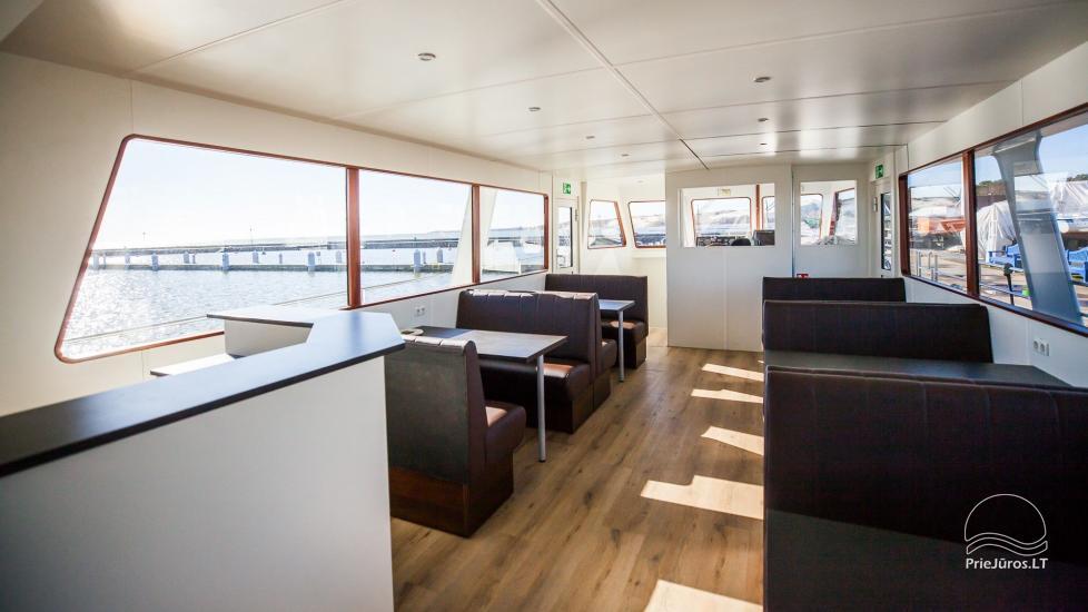 Laivo nuoma Nidoje. Naujas išvaizdus, naujausio dizaino laivas GRESA. - 1