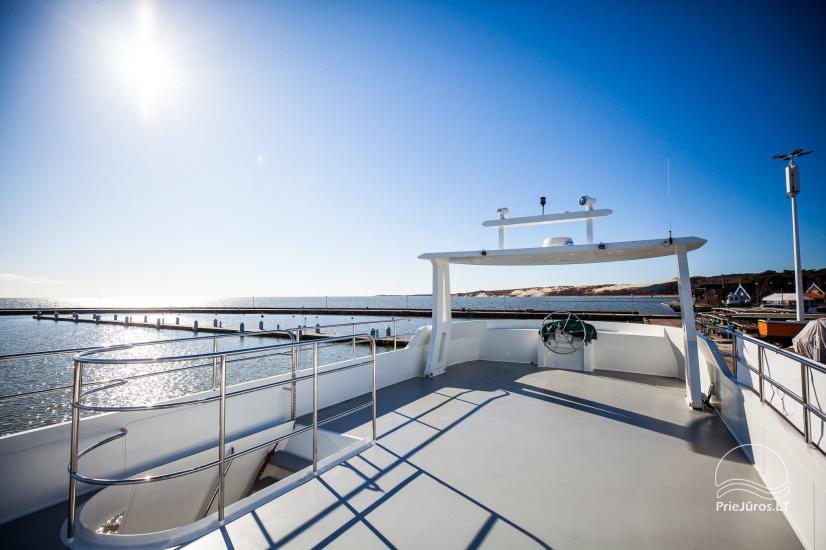Laivo nuoma Nidoje. Naujas išvaizdus, naujausio dizaino laivas GRESA. - 3