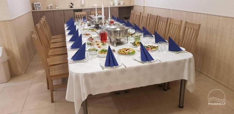 20-seat banquet hall and sauna complex in Palanga AbsolutiVila