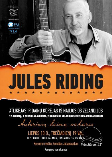 Atlikėjo Jules Riding iš Naujosios Zelandijos akustinis autorinis koncertas Palangoje - 1
