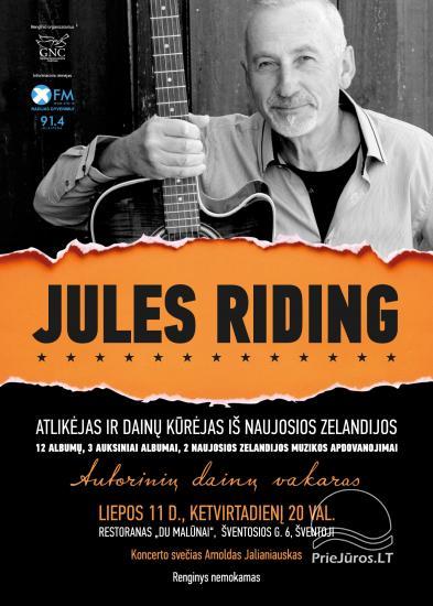 Atlikėjo Jules Riding iš Naujosios Zelandijos akustinis autorinis koncertas Šventojoje - 1