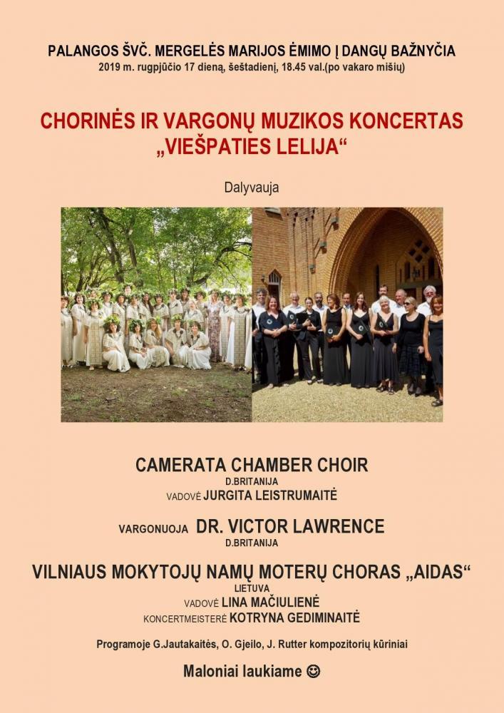 """Chorinės muzikos koncertas """"Viešpaties lelija"""" - 1"""