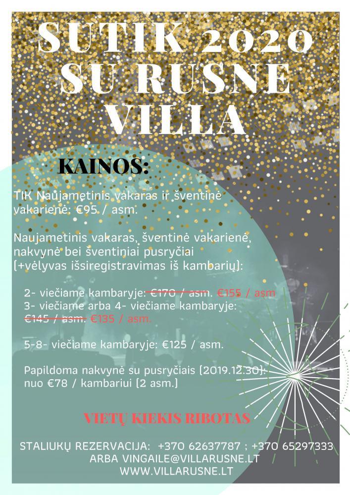 RUSNE VILLA - jūsų pašėlusi Naujųjų metų šventė!!! - 2