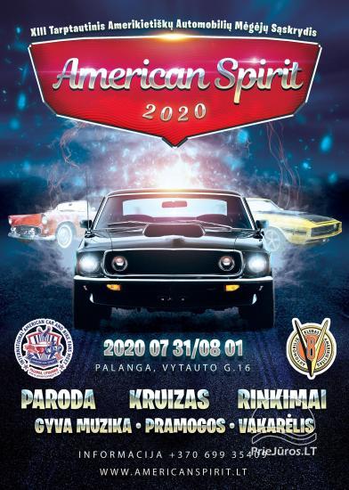 American Spirit 2020 - Amerikietiškų Automobilių Paroda XIII Palanga Liepos 31 - Rugpjūčio 1 dienomis - 1